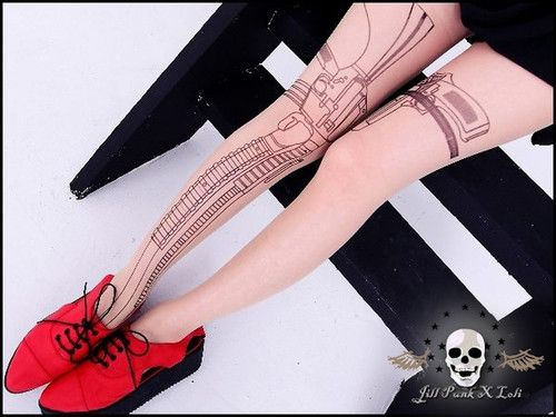 58c6906dc Street Visual Modern Tomb Raider Lara Croft Ammunition Pistol Legging  Pantyhose