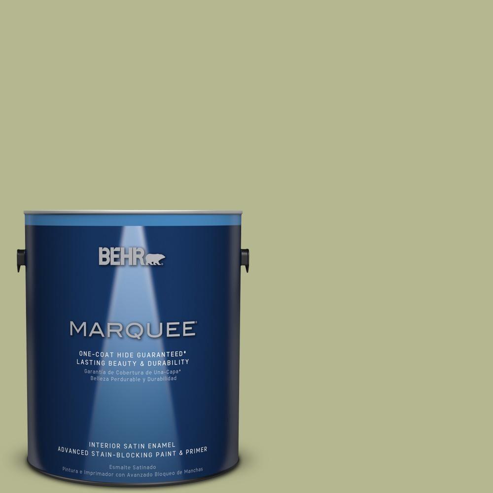 BEHR MARQUEE 1 gal. #hdc-SP14-1 Secret Glade Satin Enamel Interior Paint