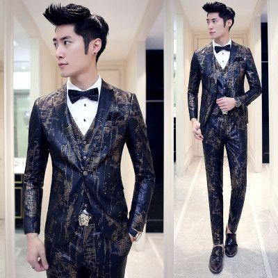 2016 Wedding Suits For Men 3 PCS/Set (Jacket Vest Pants) Latest ...