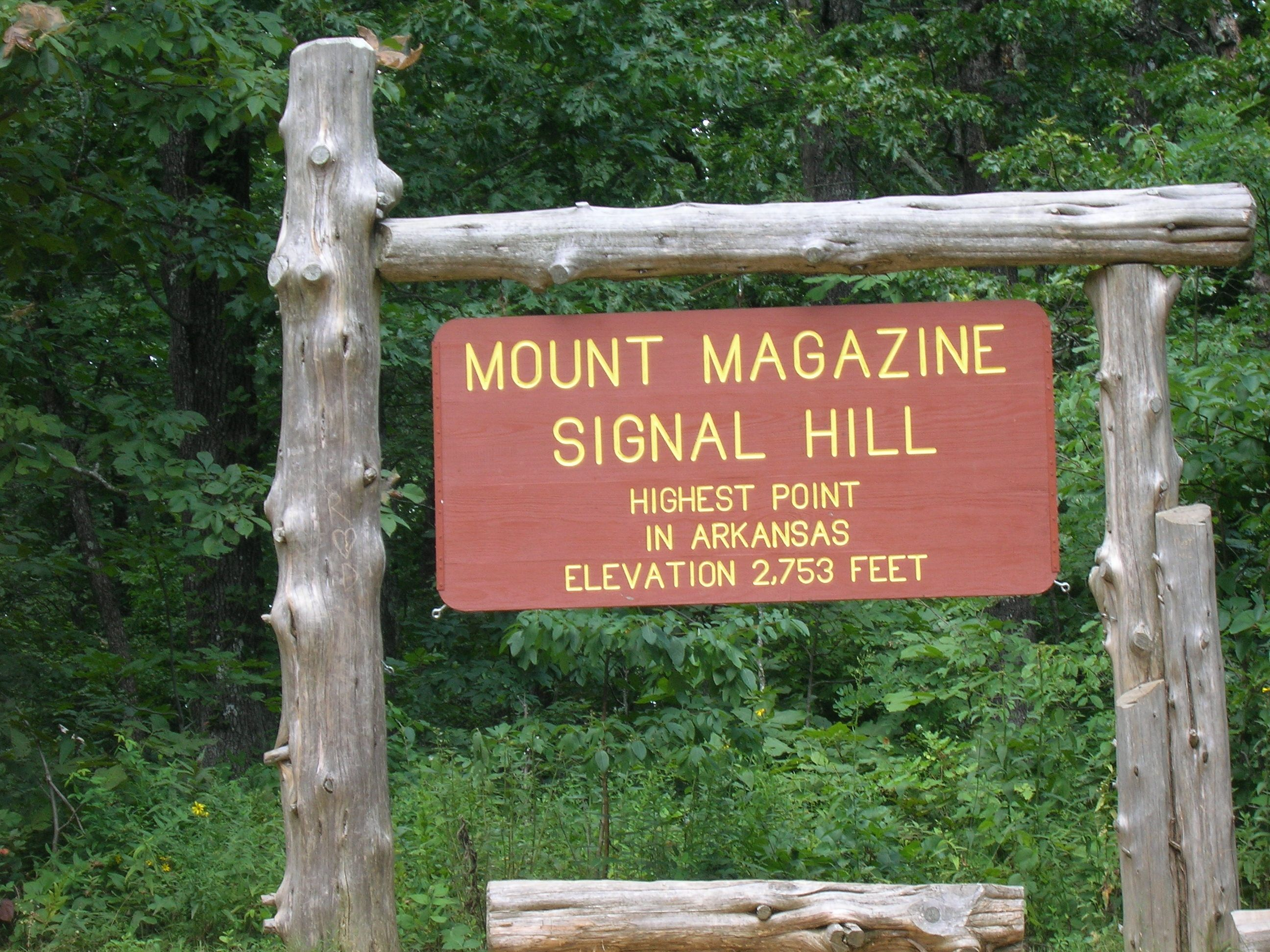 """The """"Signal Hill trail"""", in Arkansas, climbs to the"""