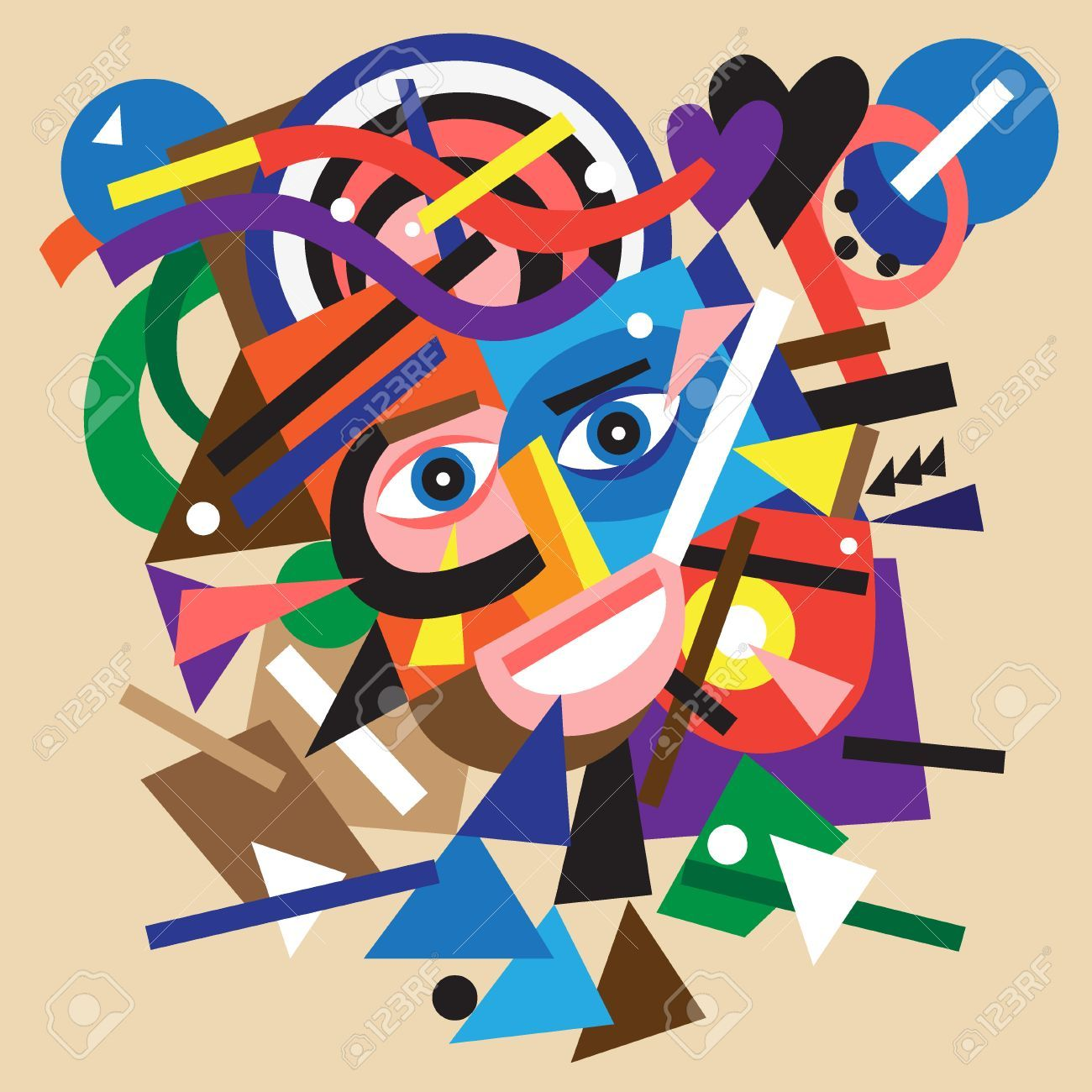 32286791-abstract-face-colourful-vector-cartoon-with-geometric-shapes-design-element-Stock-Vector.jpg (1300×1300)