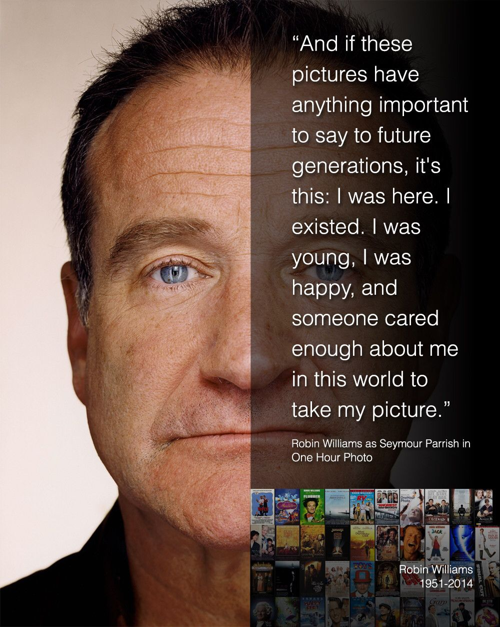 One Hour Photo Robin Williams Quotes Robin Williams Robin