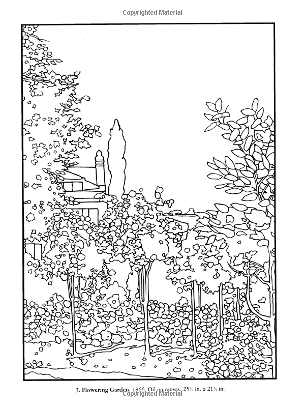 famous monet coloring pages printables - photo#9
