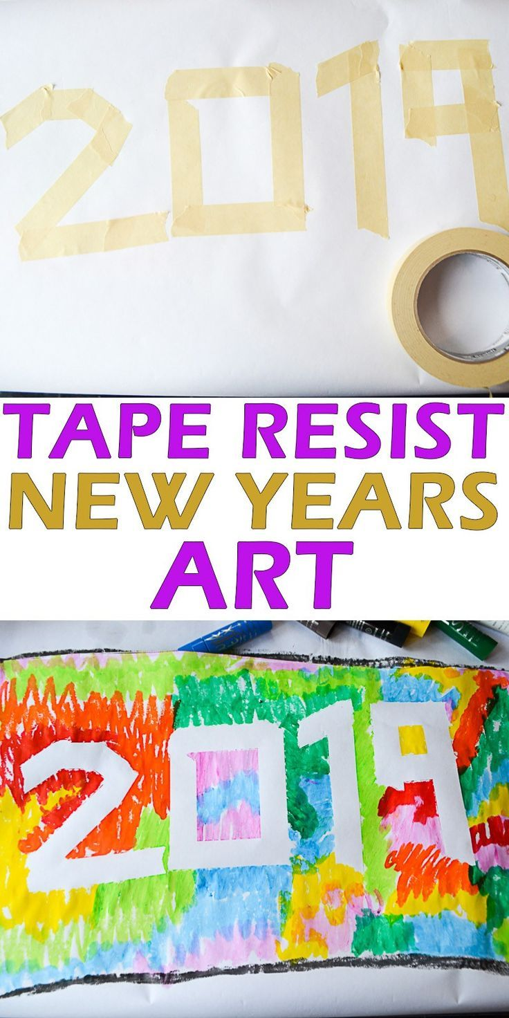 Tape Resist New Years Art - HAPPY TODDLER PLAYTIME
