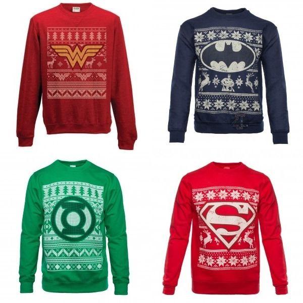 Superhero Ugly Christmas Sweaters.Dc Comics Announces Christmas Sweaters Wants Christmas