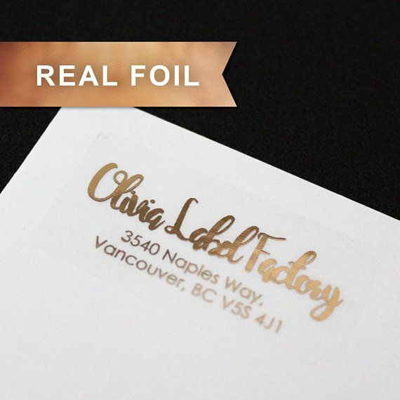 15pcs rose gold foil return address labels clear label return address stickers self