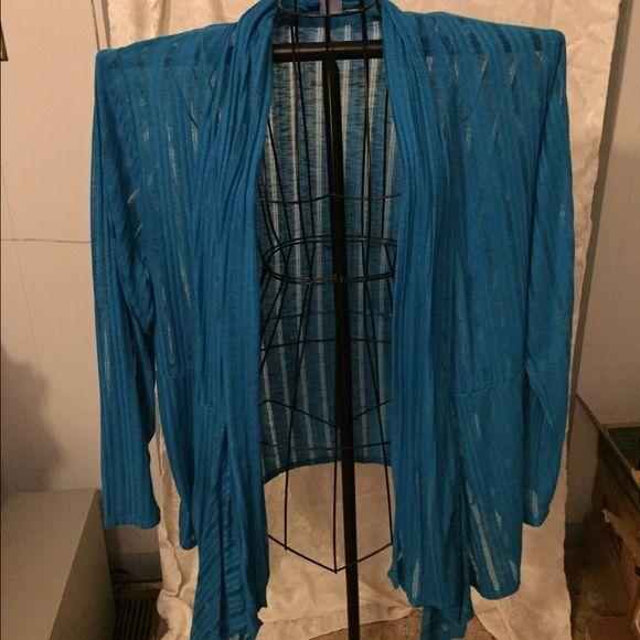 Sheer Cardigan Blue sheer cardigan. Great condition. True to size ...