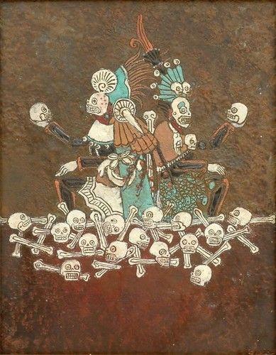 Mictlantecutli (Señor de la muerte) y Mictecacihuatl (Señora de la muerte).