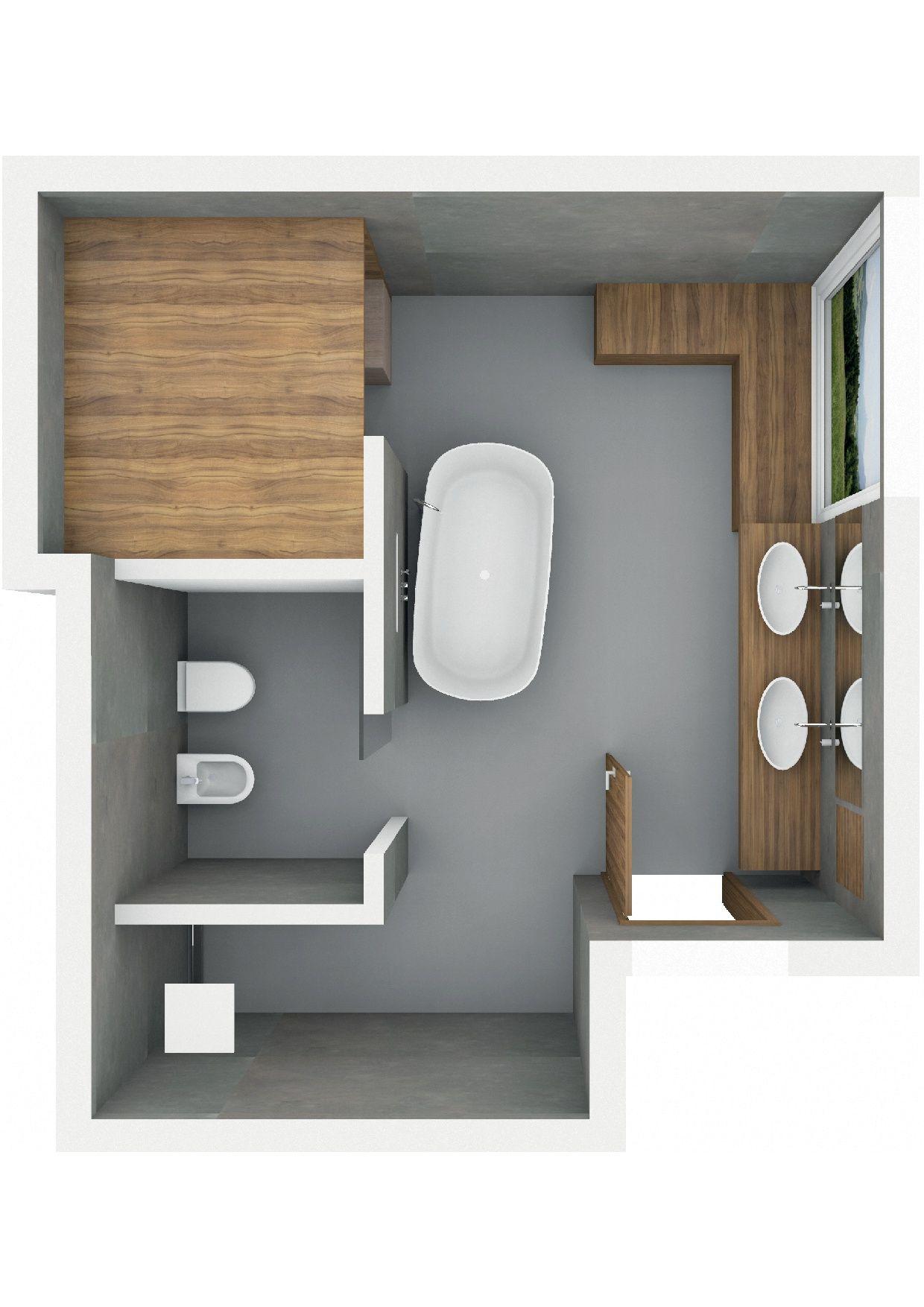 Badezimmer Mit Tlosung Und Freistehender Badewanne Badezimmer Mit Sauna Badezimmer Grundriss Haus Und Heim