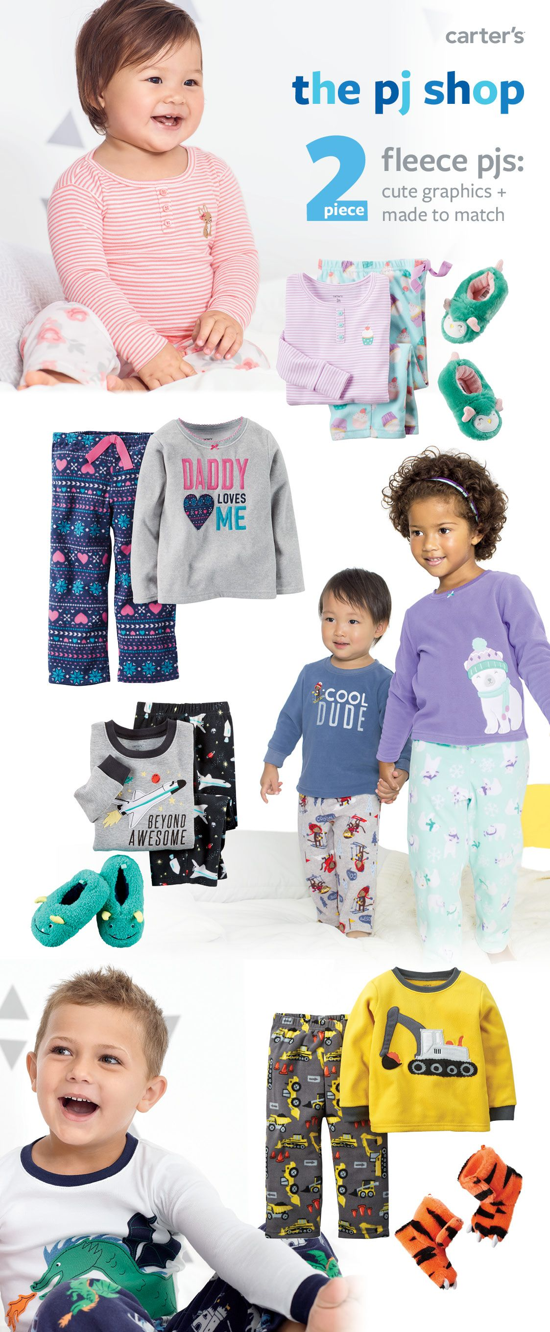 a9636b346991 Dreamy…. Cozy 2-piece fleece jammies  fun graphics + made to match ...