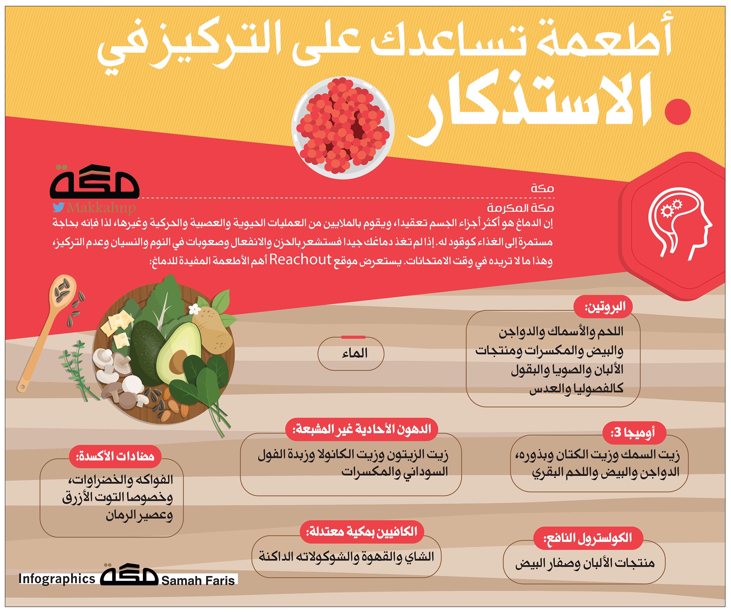 أطعمة تساعدك على التركيز في الاستذكار المذاكرة صحيفة مكة Asos Infographic Pandora Screenshot
