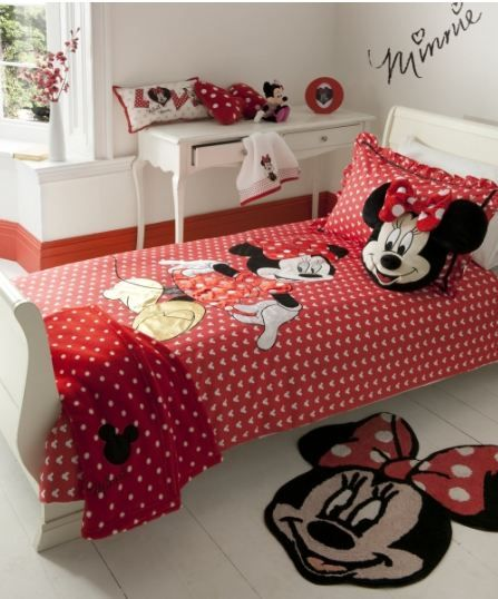 minnie-mouse-oh-my-bedding-yorkshire-linen Disney room Pinterest