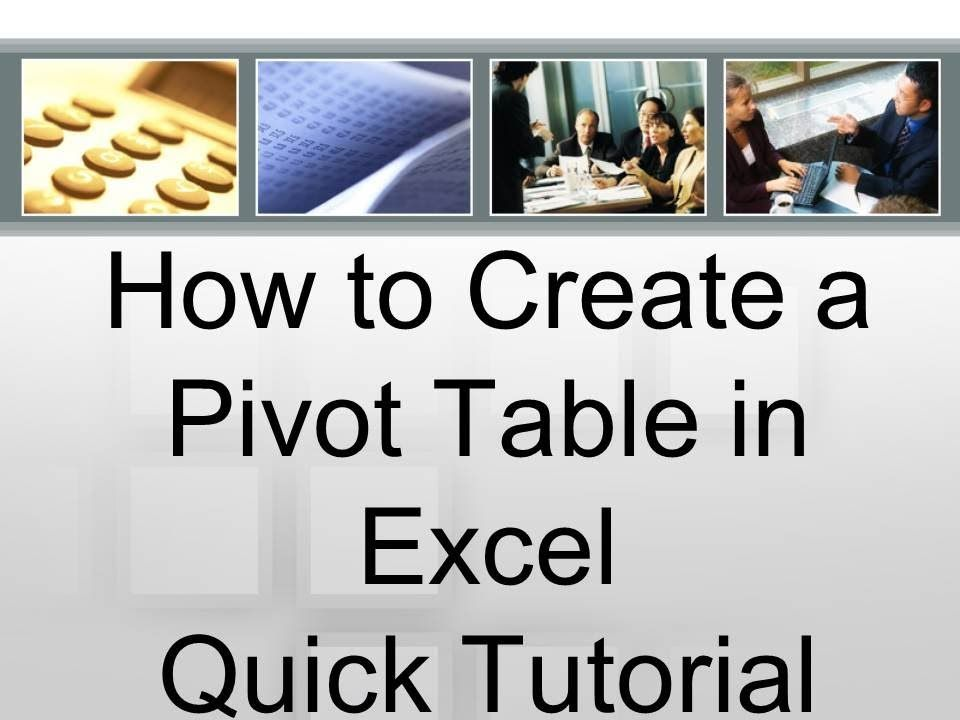 How to Create a Pivot Table in Excel Quick Tutorial My Excel - Create A Spreadsheet In Excel