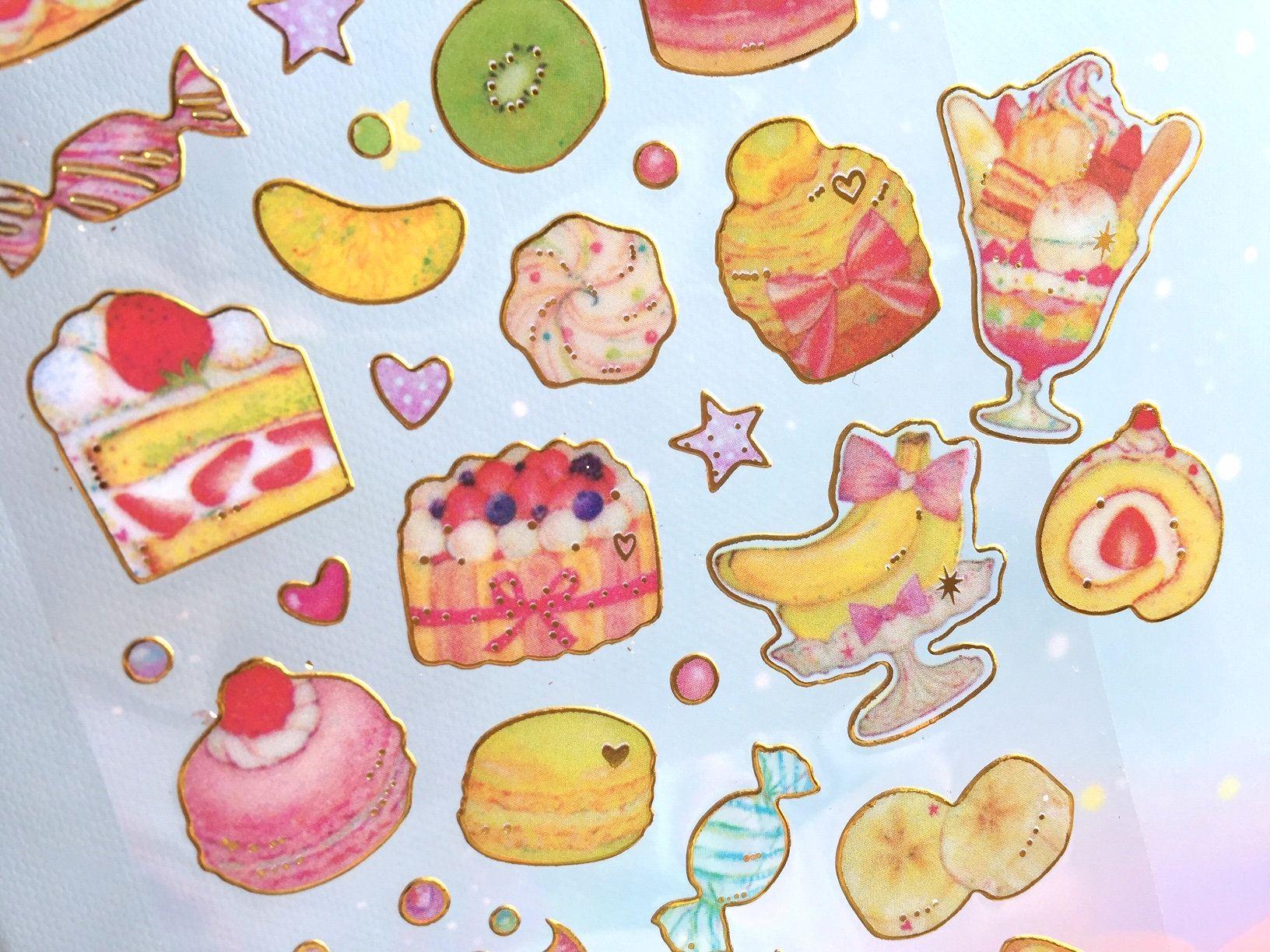 pretty cake sticker sweet Dessert birthday cake ice cream