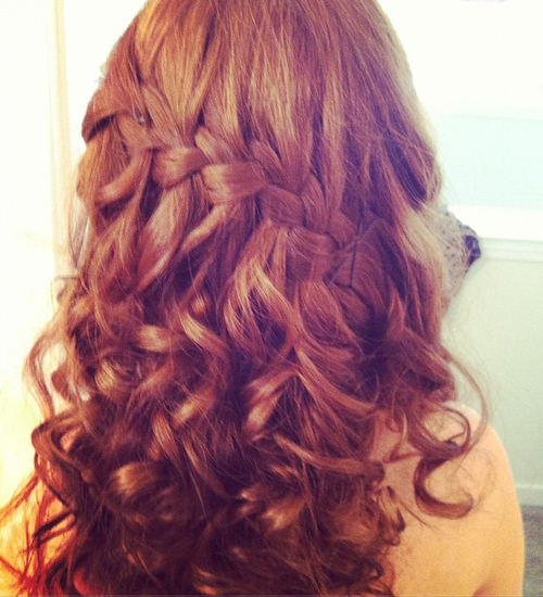 Curled Hairstyles Tumblr Soft curls are always a great | Prom ...