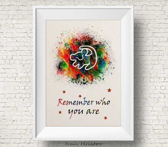 The Lion King Simba Quote Watercolor Art Print Wall Home Decor