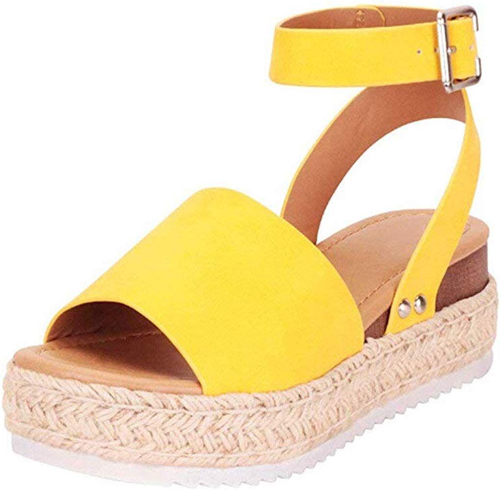 Zapatos de Mujer Chanclas Sandalias de Fiesta Verano Playa Plataforma de Moda