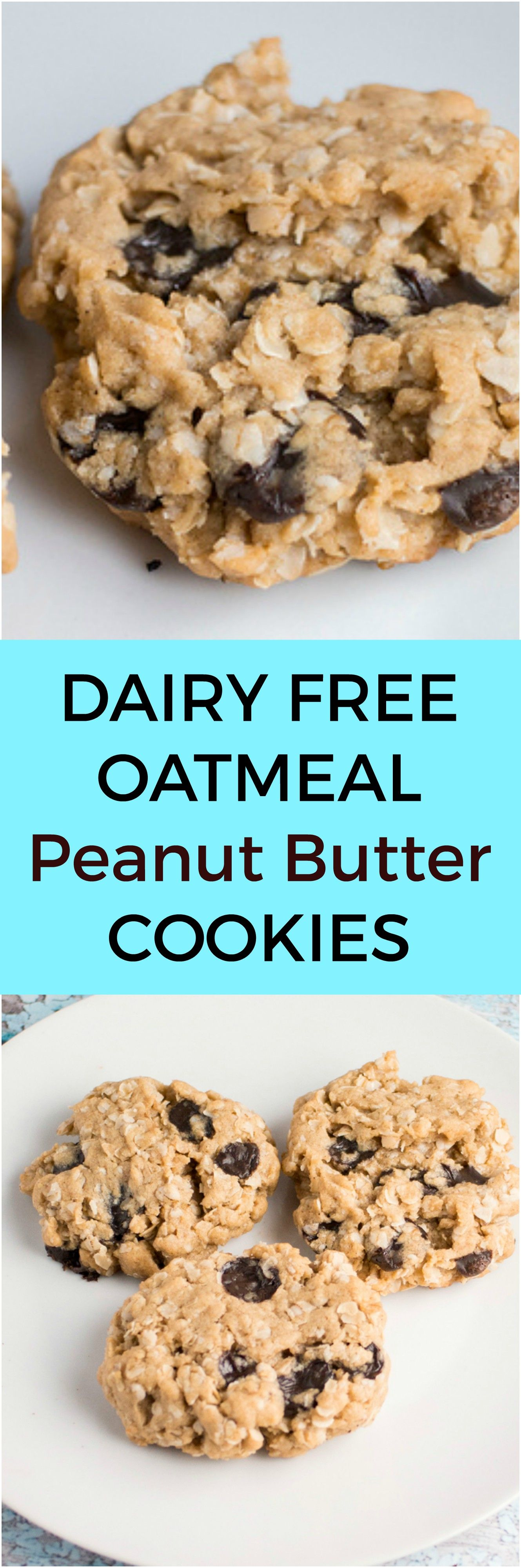 Oatmeal Peanut Butter Cookies (Dairy Free Option) Recipe
