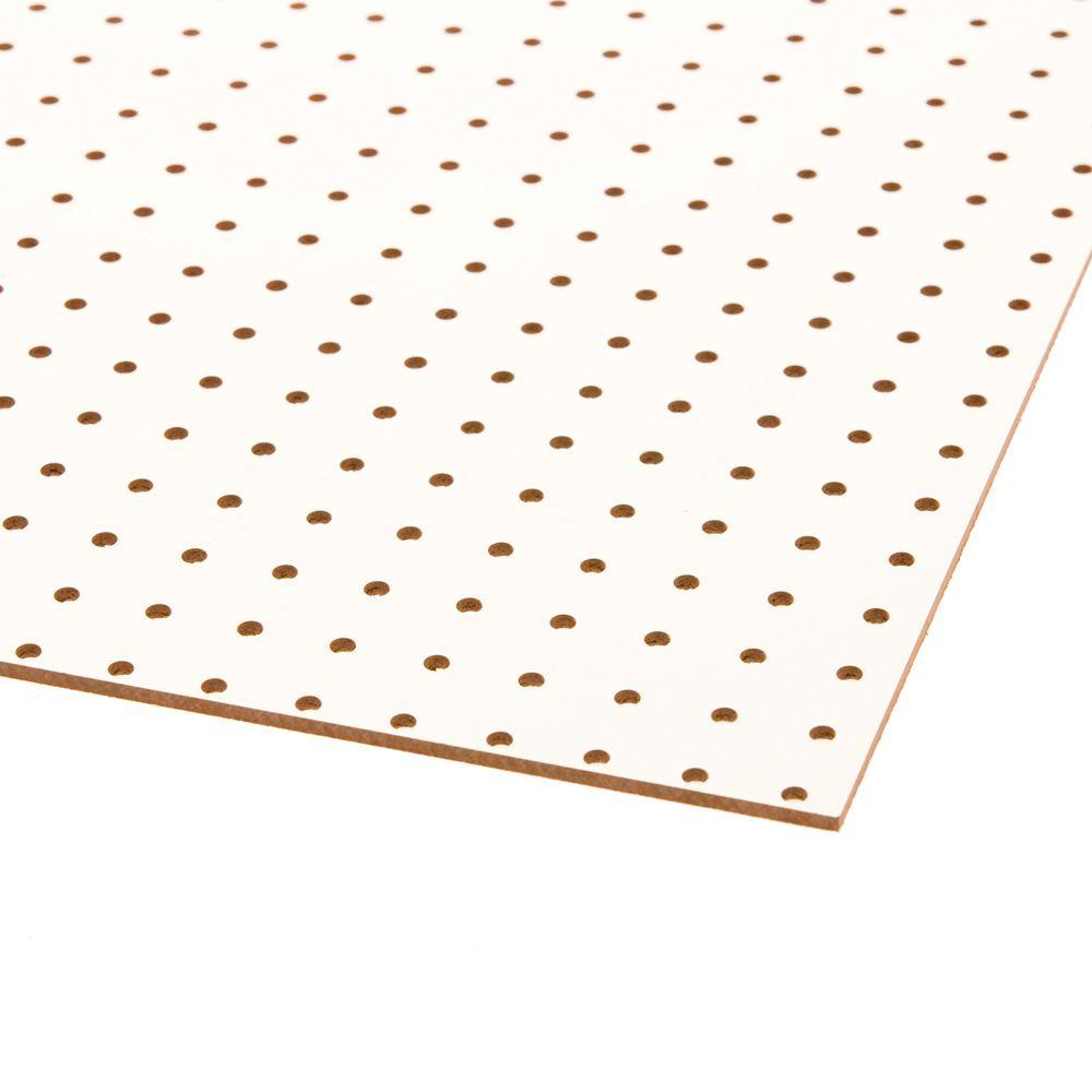 Dimensions White Peg Board Common 3 16 In X 2 Ft X 4 Ft