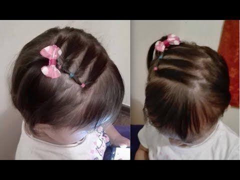 Hairstyle With Baby Braids Hairstyle With Tissue On Baby Ribbon Baby Hairstyle Youtub Peinados Cabello Corto Nina Peinados Para Bebes Peinados Infantiles