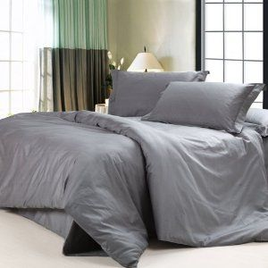 Amazon Com Diaidi Solid Dark Grey Bedding Sets Luxury Grey