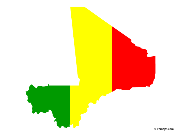 Flag Map Of Mali Free Vector Maps Map Vector Vector Free Map