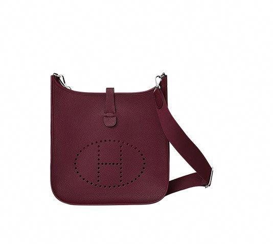 7a01de0fe024 Evelyne III 33 Hermes shoulder bag in taurillon Clemence leather (size GM)  Measures 13