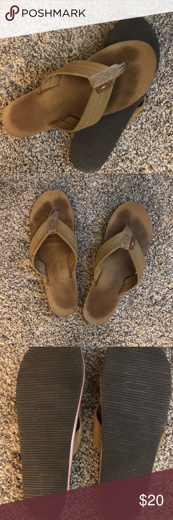 Sale Rainbow Sandals Ladies Size Large Tan Rainbow Sandals Barely Worn In Size Large 7 5 8 5 In A Light Tan Color Rainb Rainbow Sandals Rainbow Shoes Worn