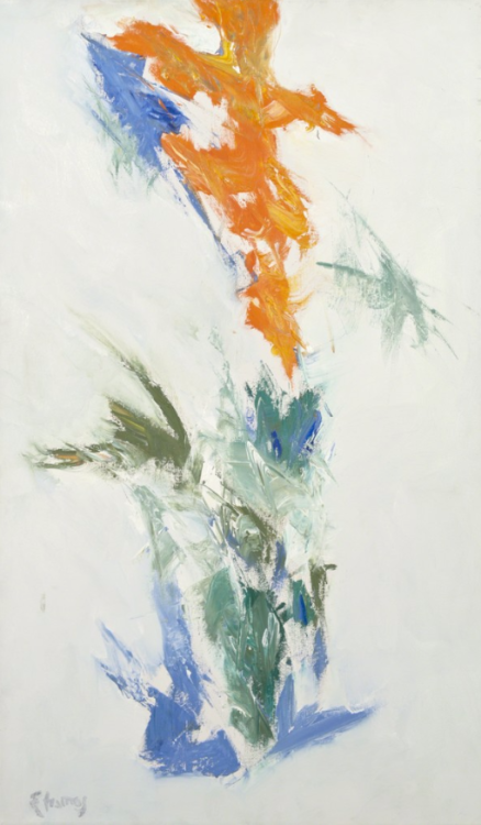 Theodoros Stamos (Greek American, 1922-1997), Low Sun A II, 1960-1986. Oil on canvas, 86.4 x 50.8 cm.