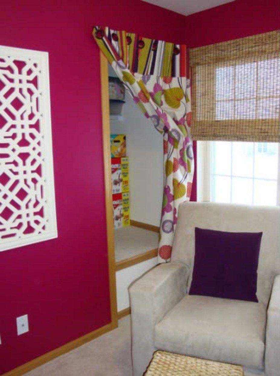 Cool and amazing diy closet door curtains ideas 10   Curtains for closet doors, Diy closet doors ...