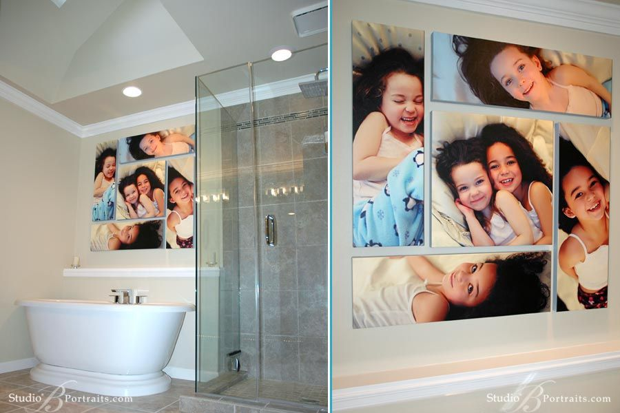 Decorating With Wall Portraits Bathroom Canvas Collage Wall Art Wednesday Decorate Your Life Mesa Family Photographer