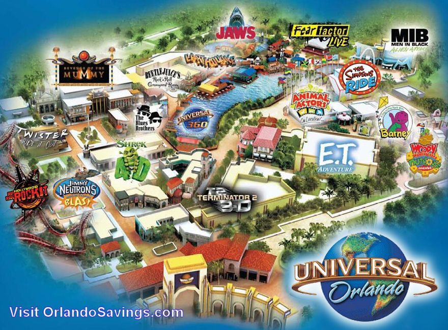 universal studios theme park florida map