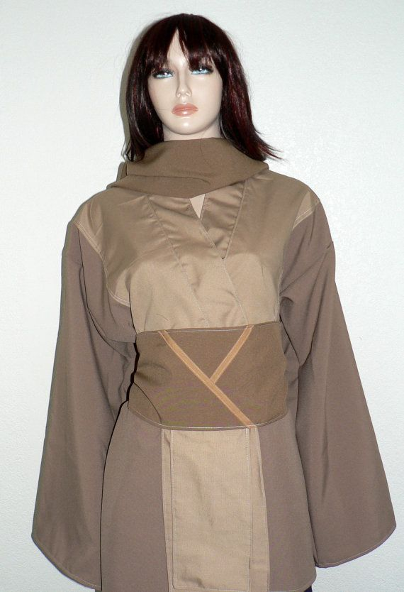 Star Wars Jaina Solo Jedi Tunic Custom by KhloesCustomClothing  sc 1 st  Pinterest : female jedi costume  - Germanpascual.Com