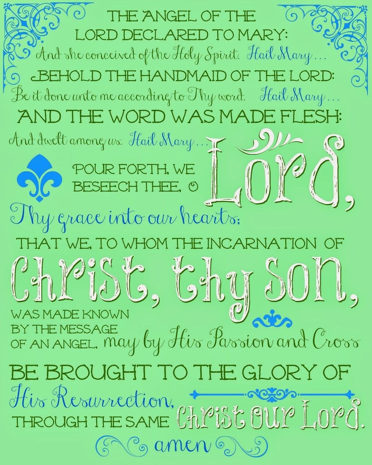 photograph about Printable Catholic Prayers identified as Absolutely free Printable Prayers for Your Printing and Praying
