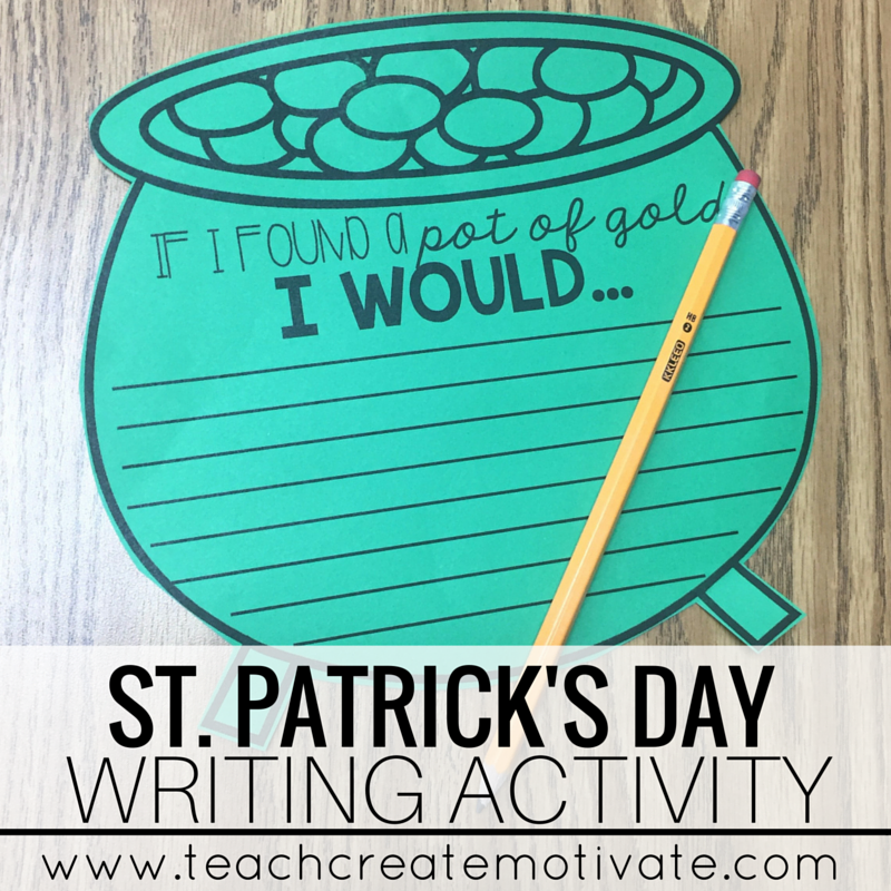 Such a fun writing activity for your students to do in March!