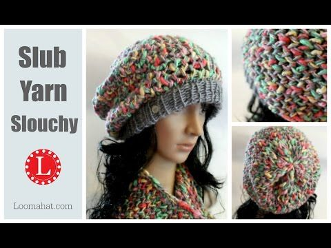 1c425a57d88 LOOM KNITTING HAT Ombre Beanie Pattern for Men and Women made on the Extra  Large 40 - 41 peg loom - YouTube
