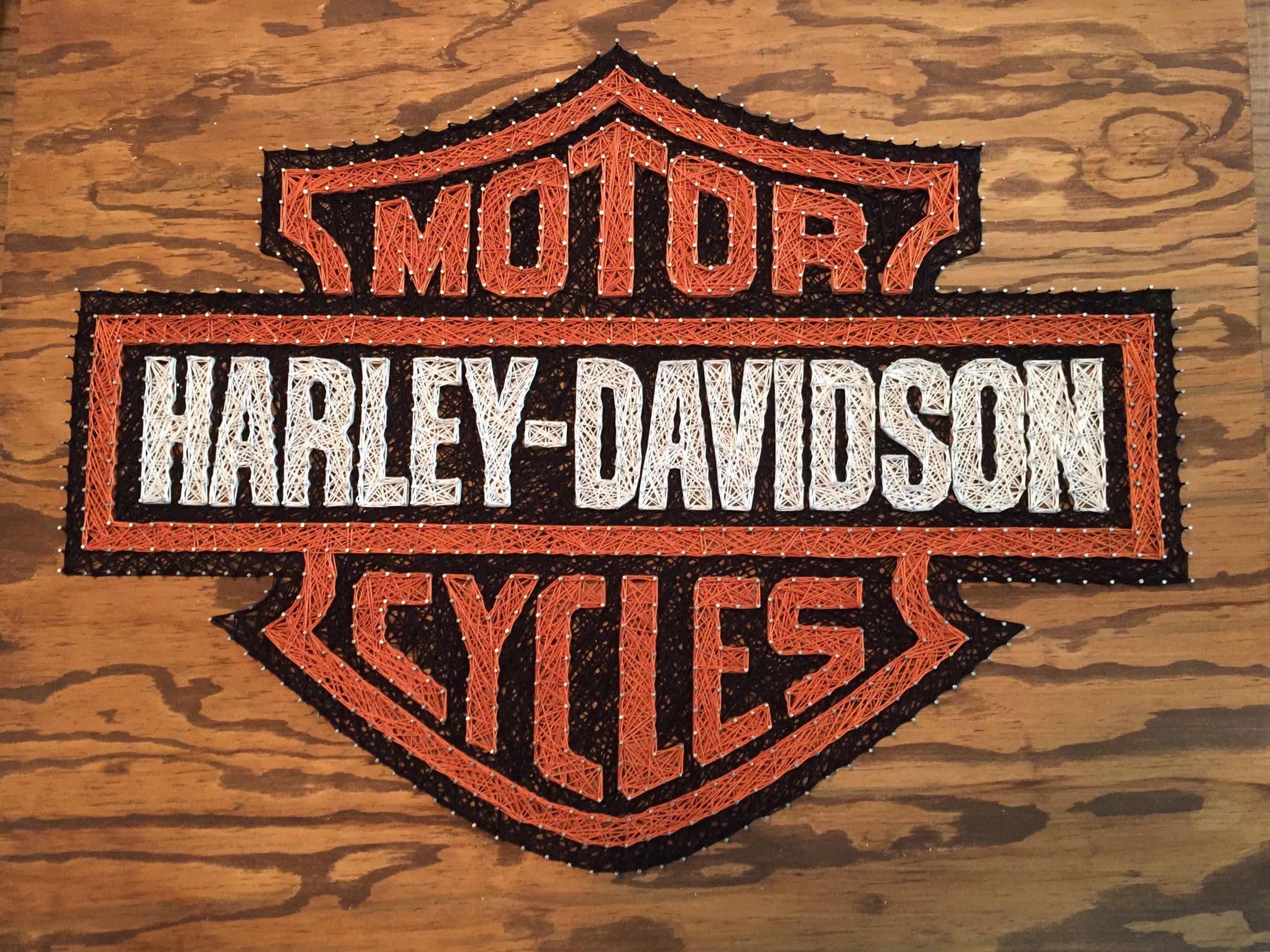 Harley-Davidson string art sign | Nailed it! | Pinterest | Basteln