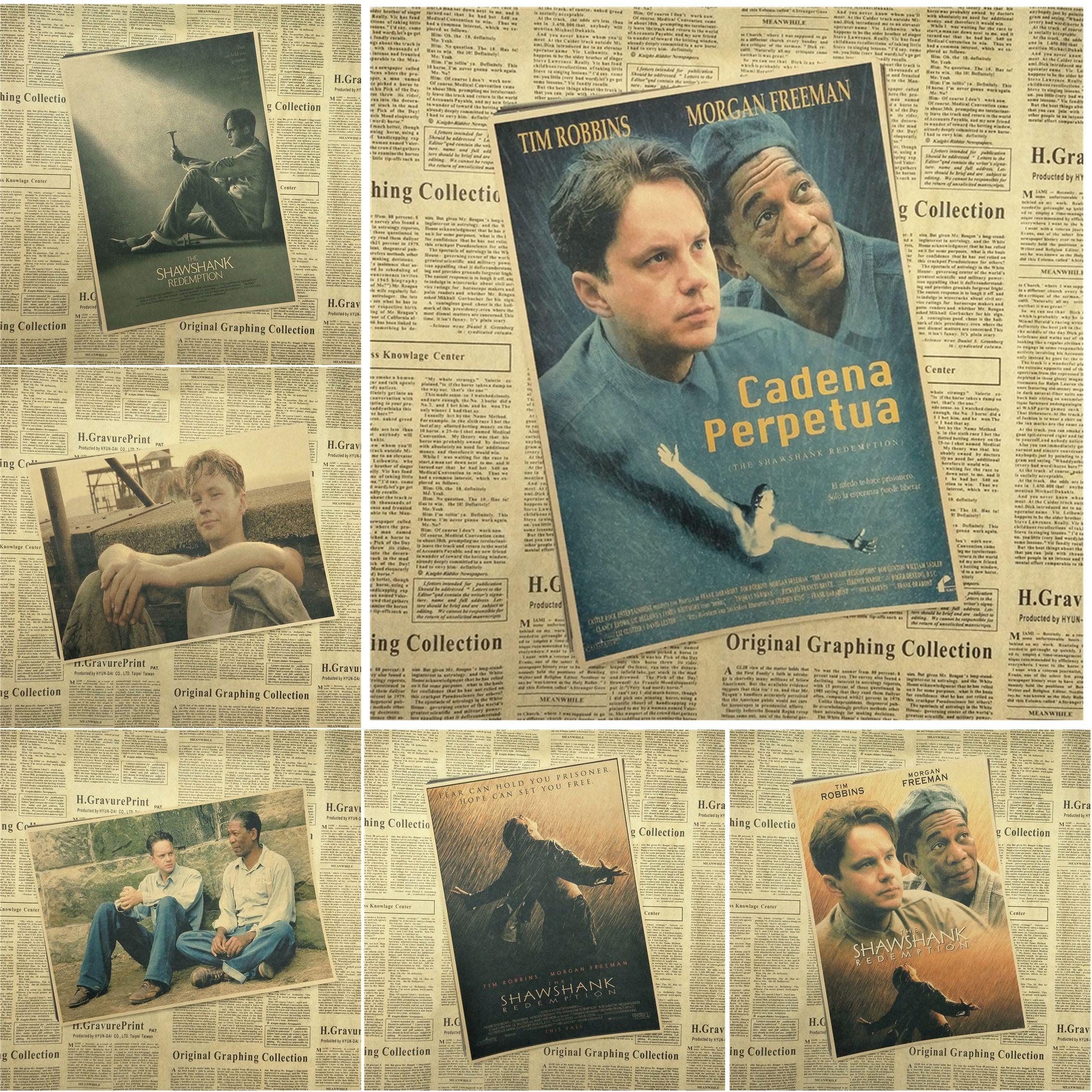The Shawshank Redemption Kraft Paper Poster Bar Cafe Living Room ...