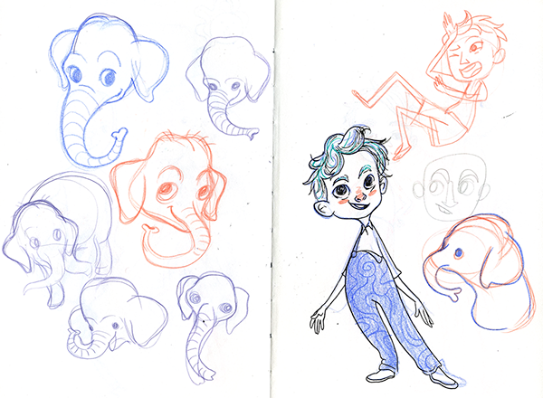 a random, non-chronological assortment of sketches from the past couple of years. Sketches done with graphite, col-erase pencils, and ink. Updated frequently!