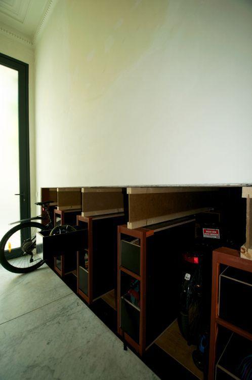 Architect Dirk Hendrickx - Integratie fietsenstalling in rijwoning