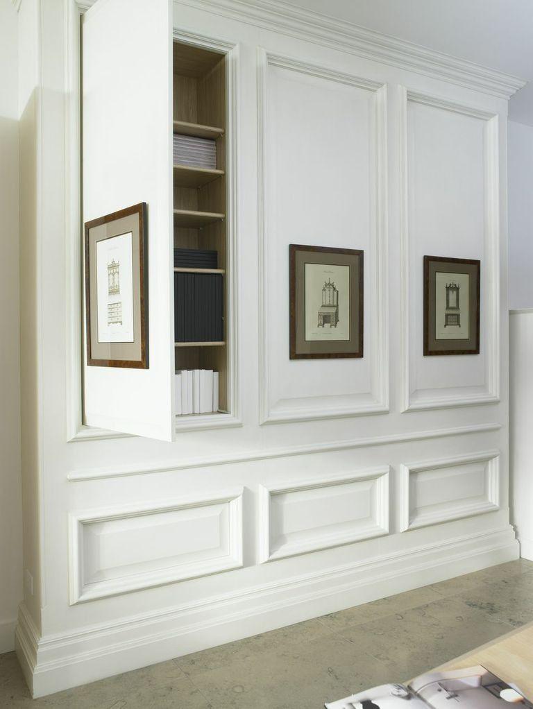 Paneling With Hidden Cupboard Hidden Rooms Built Ins Built In Cabinets