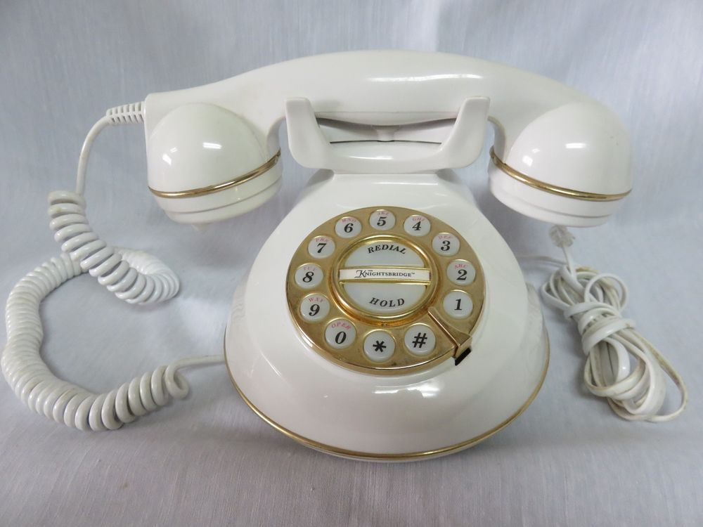 Microtel Phone Corp Model 954 The Knightsbridge Cream Corded Telephone