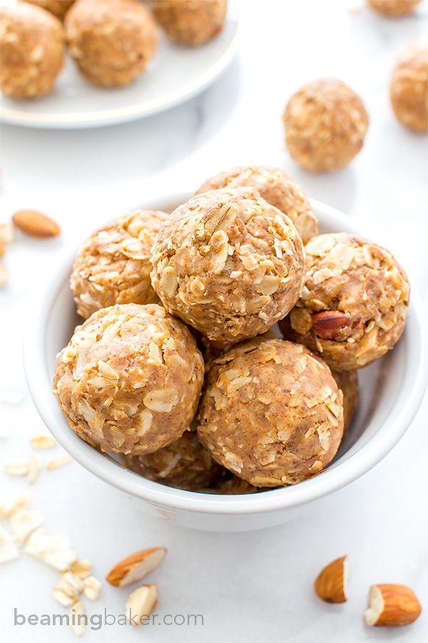 No Bake Almond Butter Coconut Bites V Gf Nutty Lightly Sweet