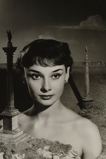 Angus McBean captured the 21-year-old actress in October 1950, a year before she played the lead in the Broadway production of Gigi. #refinery29 http://www.refinery29.com/2015/06/87205/audrey-hepburn-photos-national-portrait-gallery#slide-2