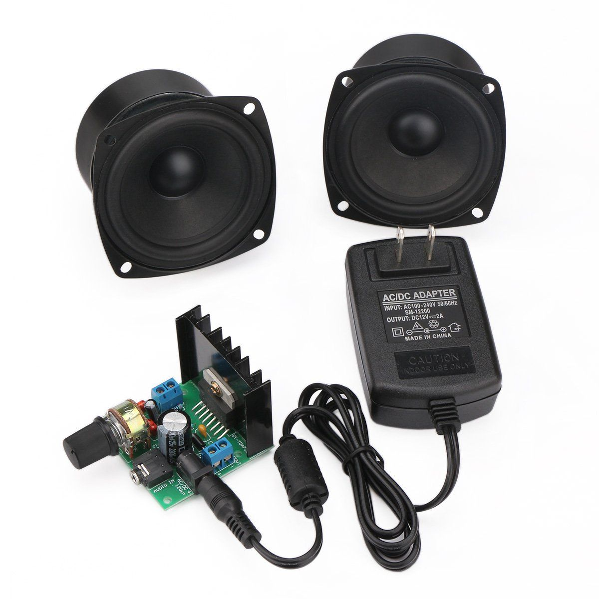 Drok mini ampli board 6v to 18v portable stereo amplifier