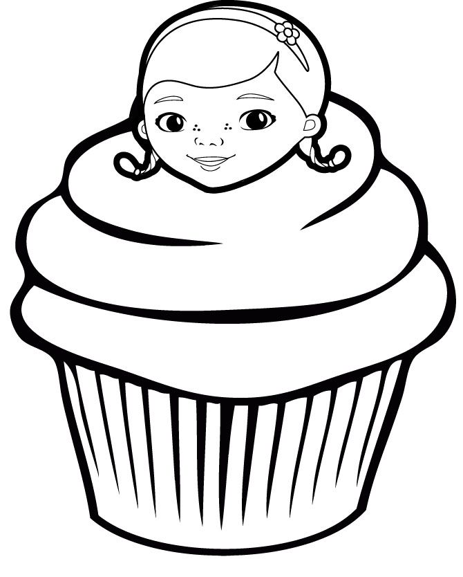 Cupcake Coloring Page 4 cupcake sweets Pinterest Adult coloring