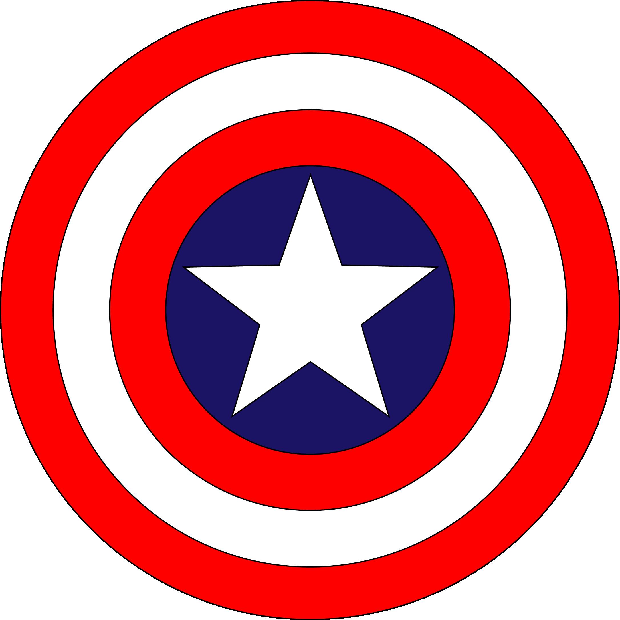 Captan America Logo Shield Captain America Logo Captain America Party Superhero Logo Templates