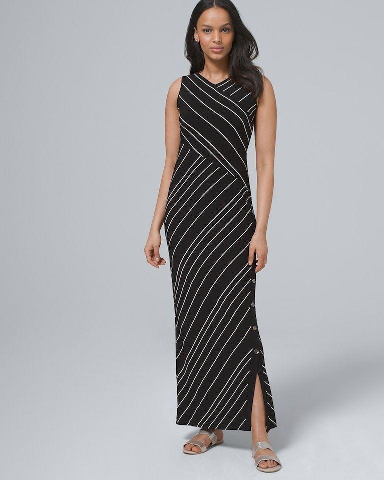 36971d66ee Women s Polished Knit Stripe Maxi Dress by White House Black Market