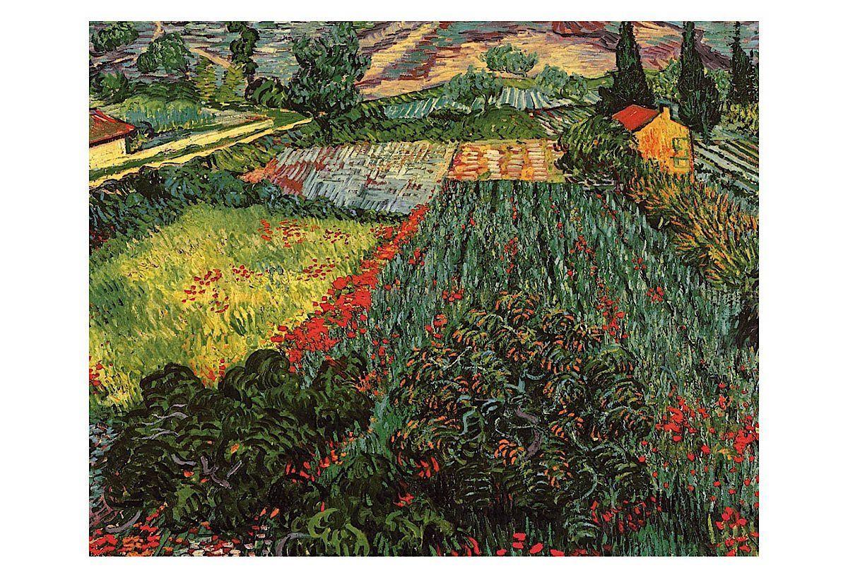 Field Of Poppies Saint Remy C 1889 Vincent Van Gogh Paintings Van Gogh Art Vincent Van Gogh Art