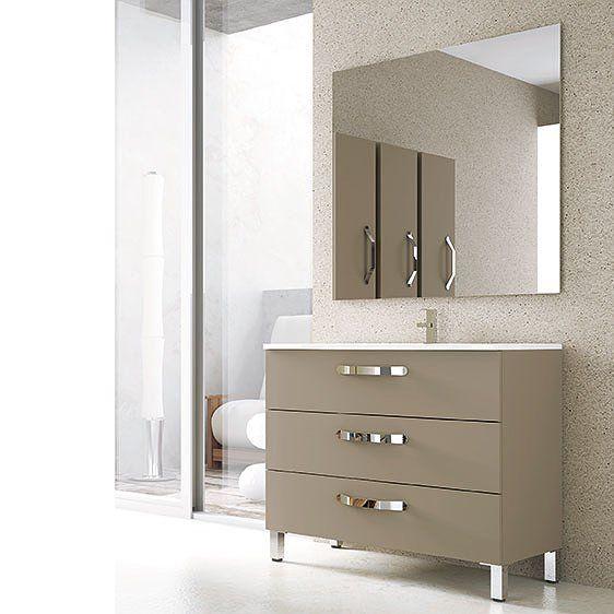 Mueble de baño Campoaras Neos con patas 3 cajones ...